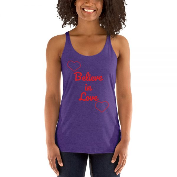 faaa16d916e Believe in Love-Women's Racerback Tank